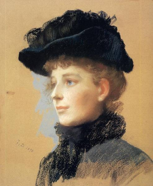 Frank Portrait of a Woman with Black Hat